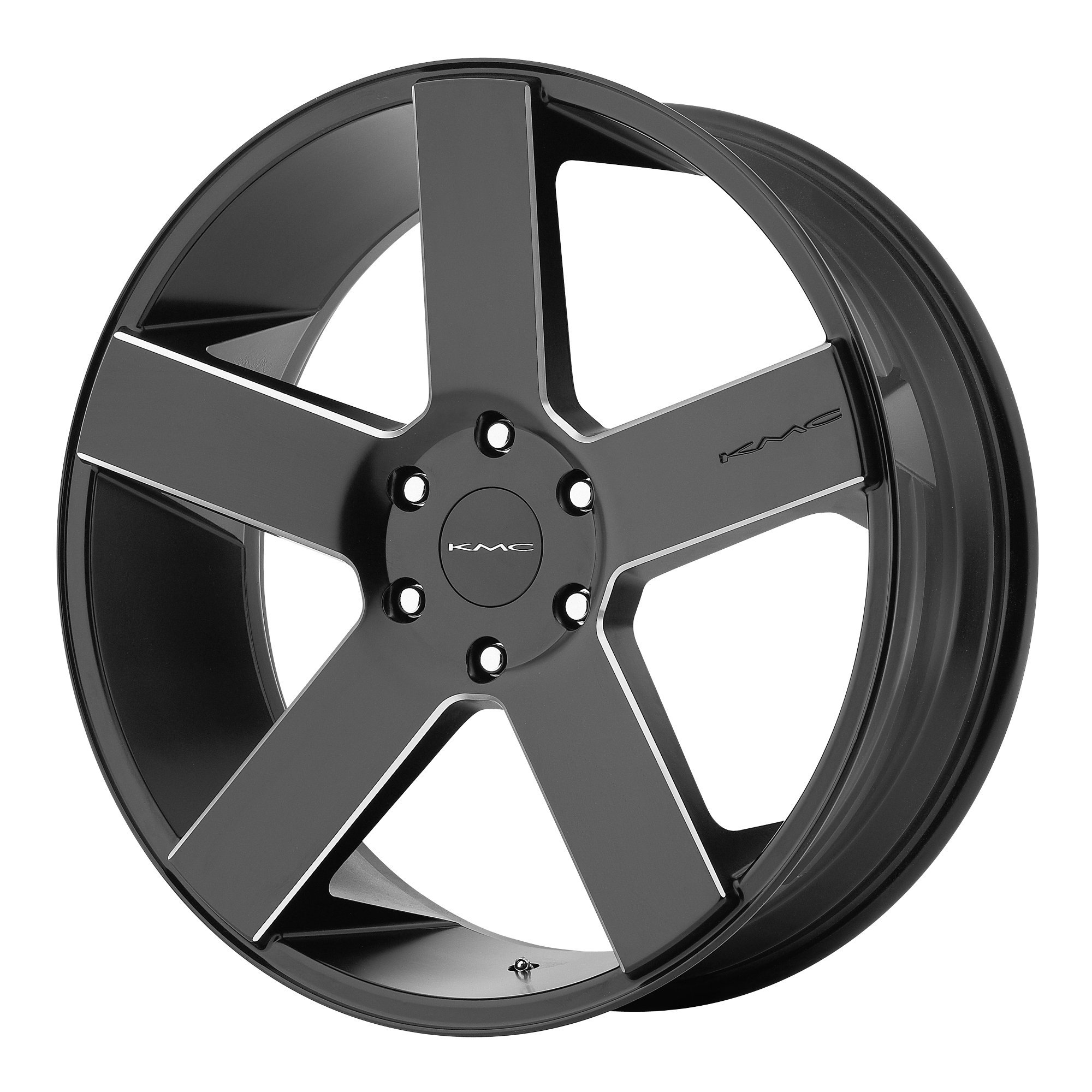 KMC Wheels KM690 MC 5 Satin Black Wheel With Milled Accents (20x8.5''/6x139.7mm, +25mm offset)