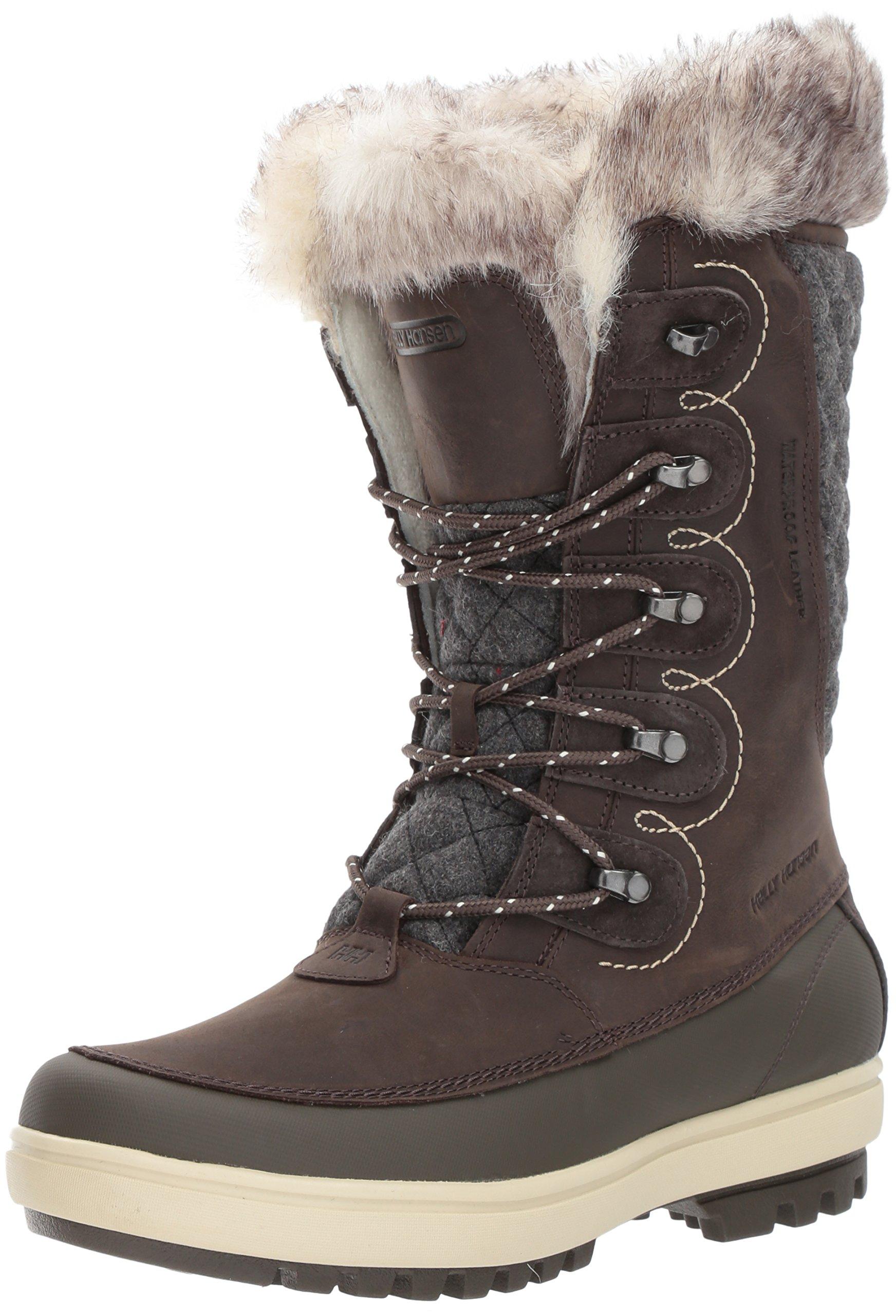 Helly Hansen Women's Garibaldi VL Lux Snow Boot, Coffee Bean/Espresso/Natural, 10 M US