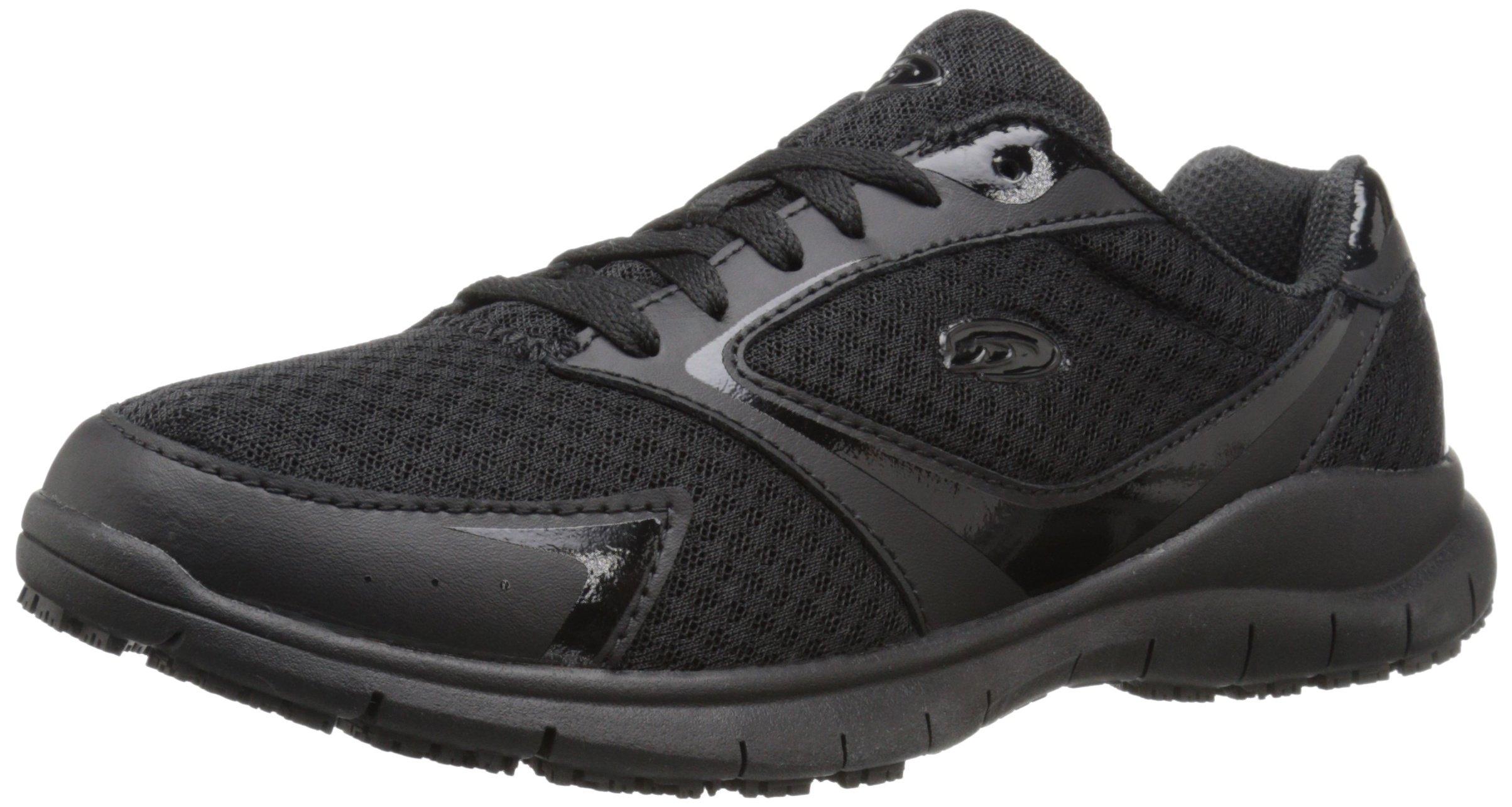 Dr. Scholl's Women's Inhale Slip Resistant Sneaker, Black, 6.5 M US