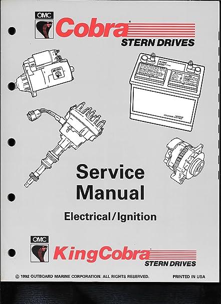 amazon 1993 omc cobra king cobra jv electrical ignition Harley Ignition Switch Wiring Diagram 1993 omc cobra king cobra quot jv quot electrical ignition service manual 508292