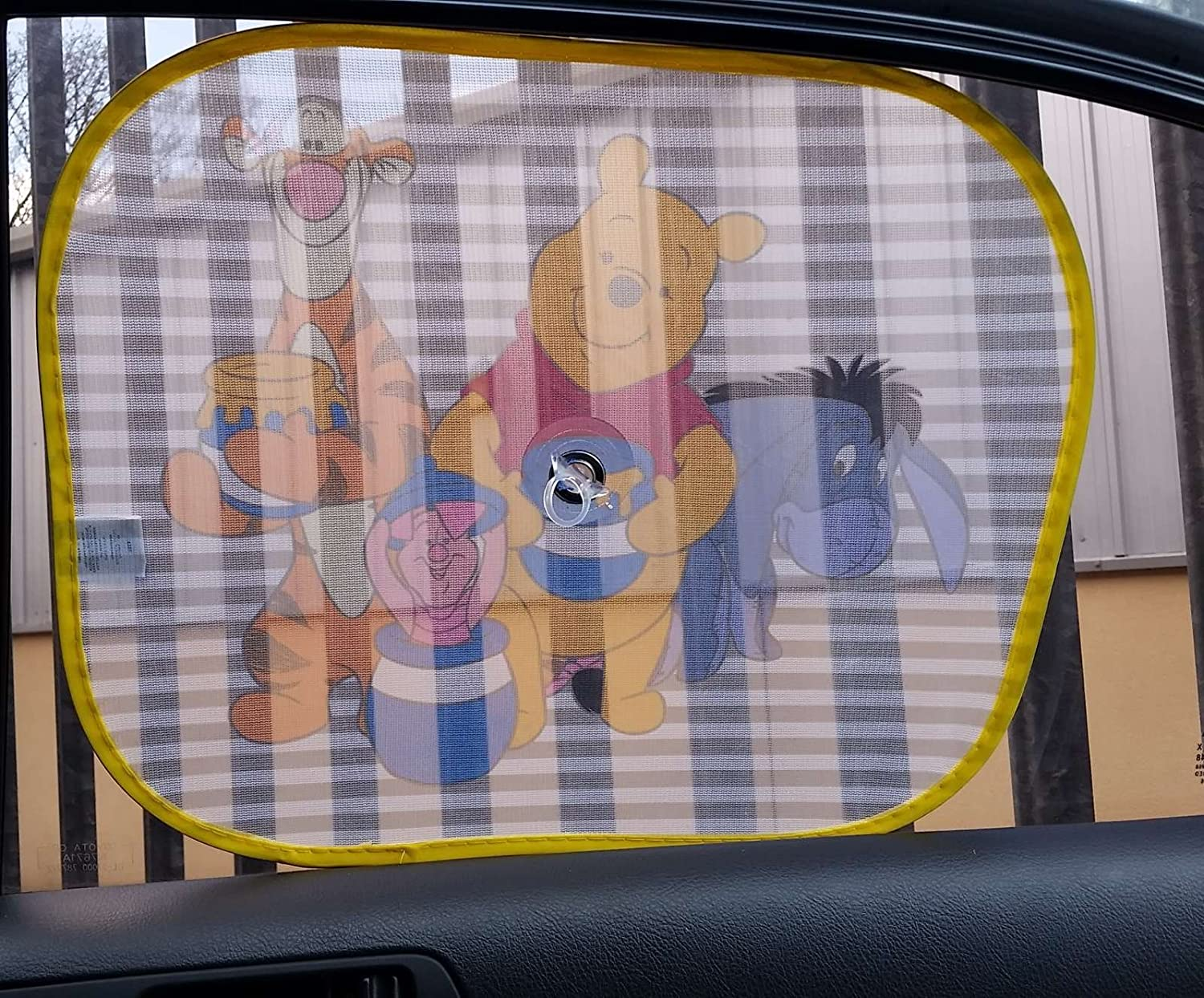 XtremeAuto/® Disney Pixar Winnie The Pooh Side Car Sunshade X2 Complete with XtremeAuto Sticker