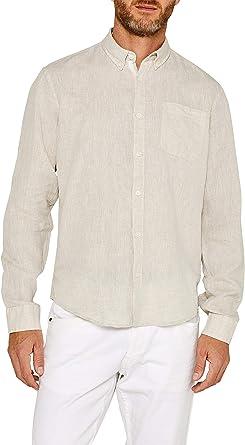 Esprit 049ee2f008 Camisa, Marrón (Taupe 240), Large para Hombre: Amazon.es: Ropa y accesorios