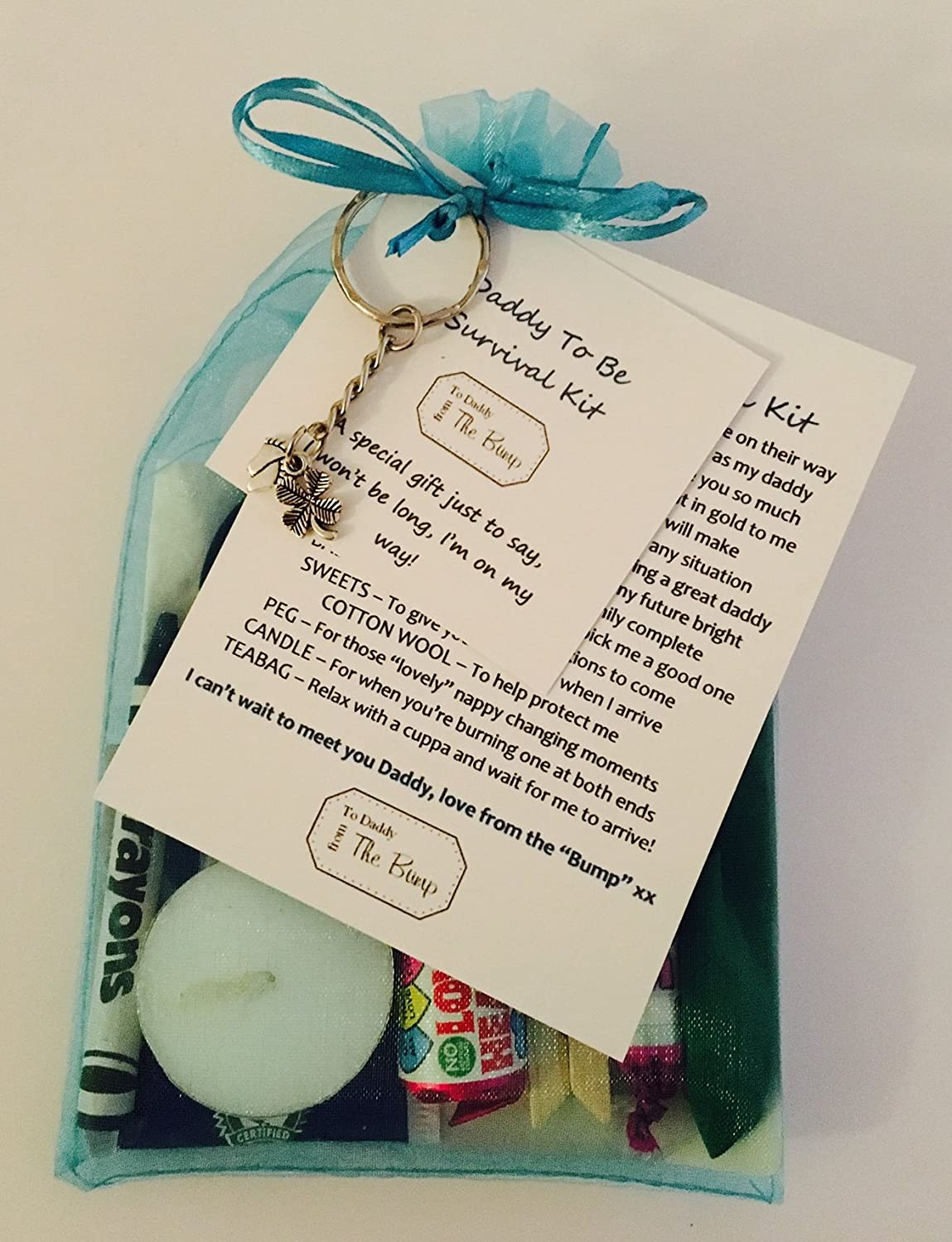 New Daddy To Be Survival Kit Card From The Baby Bump Fantastic Gift Present For Birthday Christmas Fathers Day Congratulations Great For Any Occasion Amazon Co Uk Kitchen Home