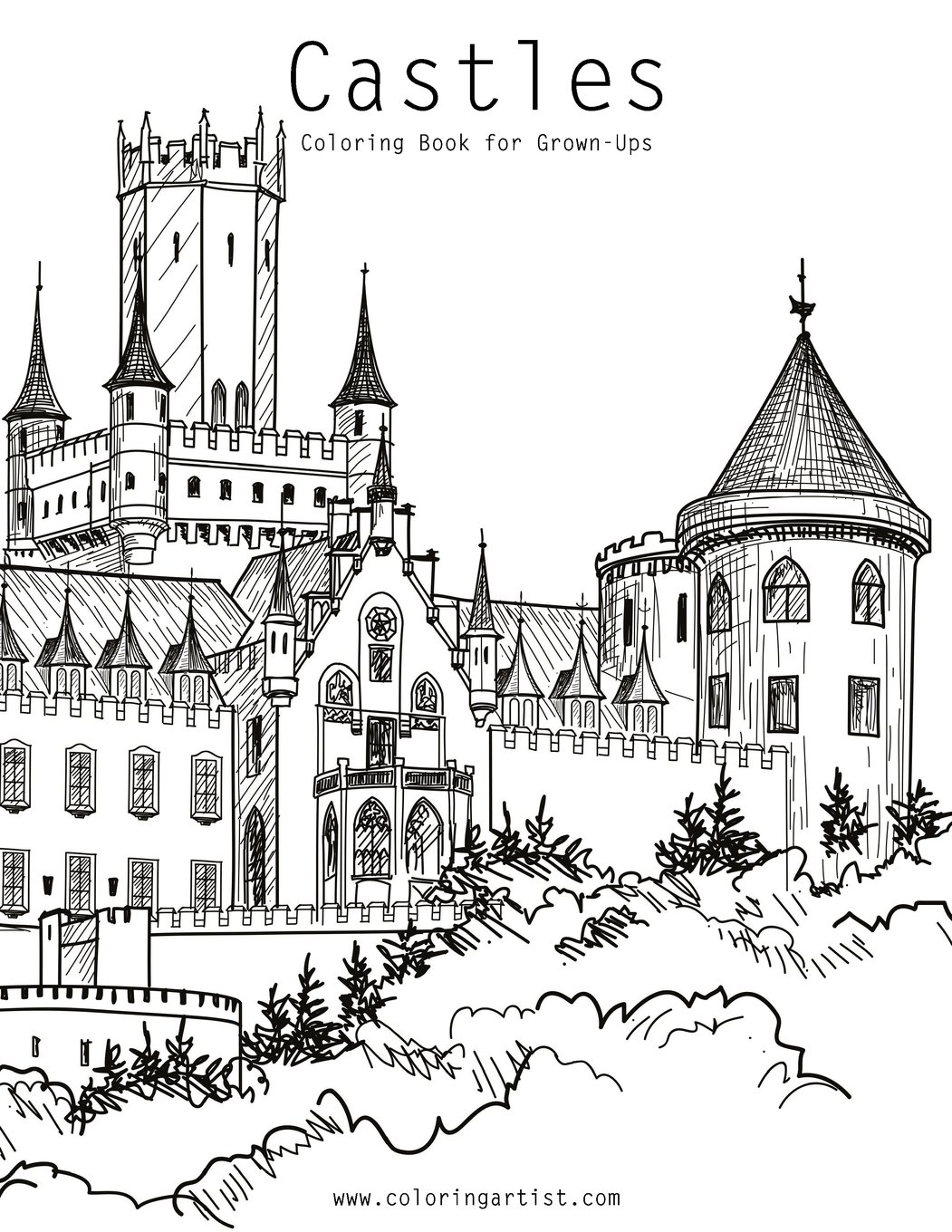- Amazon.com: Castles Coloring Book For Grown-Ups 1 (Volume 1
