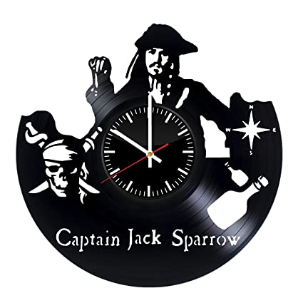 Victory Gifts Store Captain Jack Sparrow Pirates Of The Caribbean Vinyl Record Wall Clock Unique