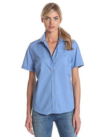 675288db5c7 Dickies Womens Short Sleeve Stretch Poplin Shirt at Amazon Women s ...