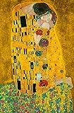 Giant Art® XXL-Poster The Kiss Photo, mural, wall posters, large format, 115x175 cm, painting, kiss, people, artist, Gustav Klimt, man, woman,
