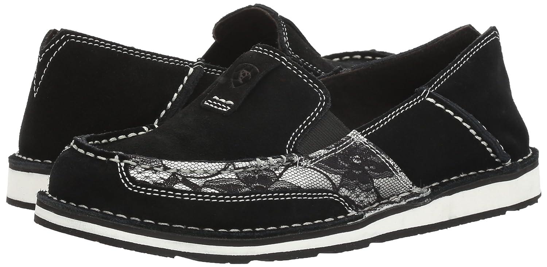 Ariat Women's Cruiser Slip-on Shoe B01MUG4XRV 8 B(M) US|Black Suede