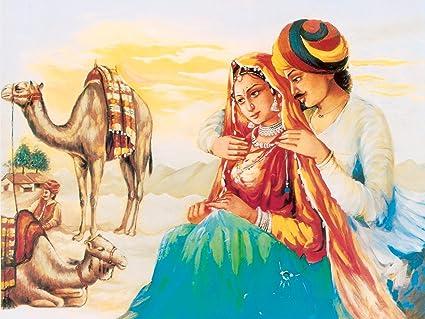 Most Beautiful Couple Love Painting Fine Art Paper Hd Wallpaper
