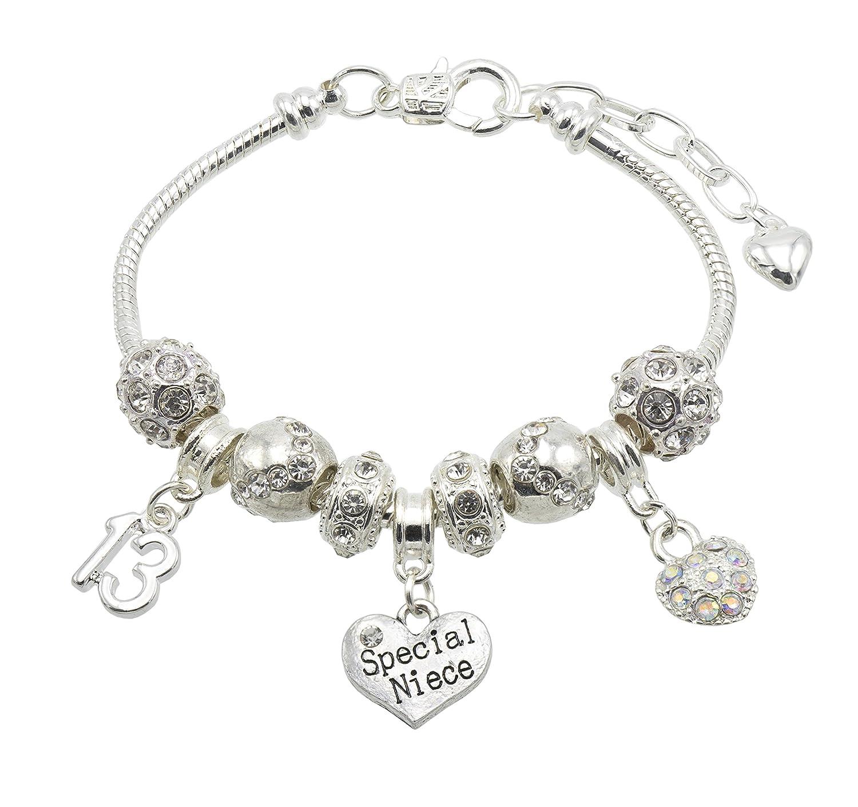 Special Niece Birthday Charm Bracelet With Gift Box