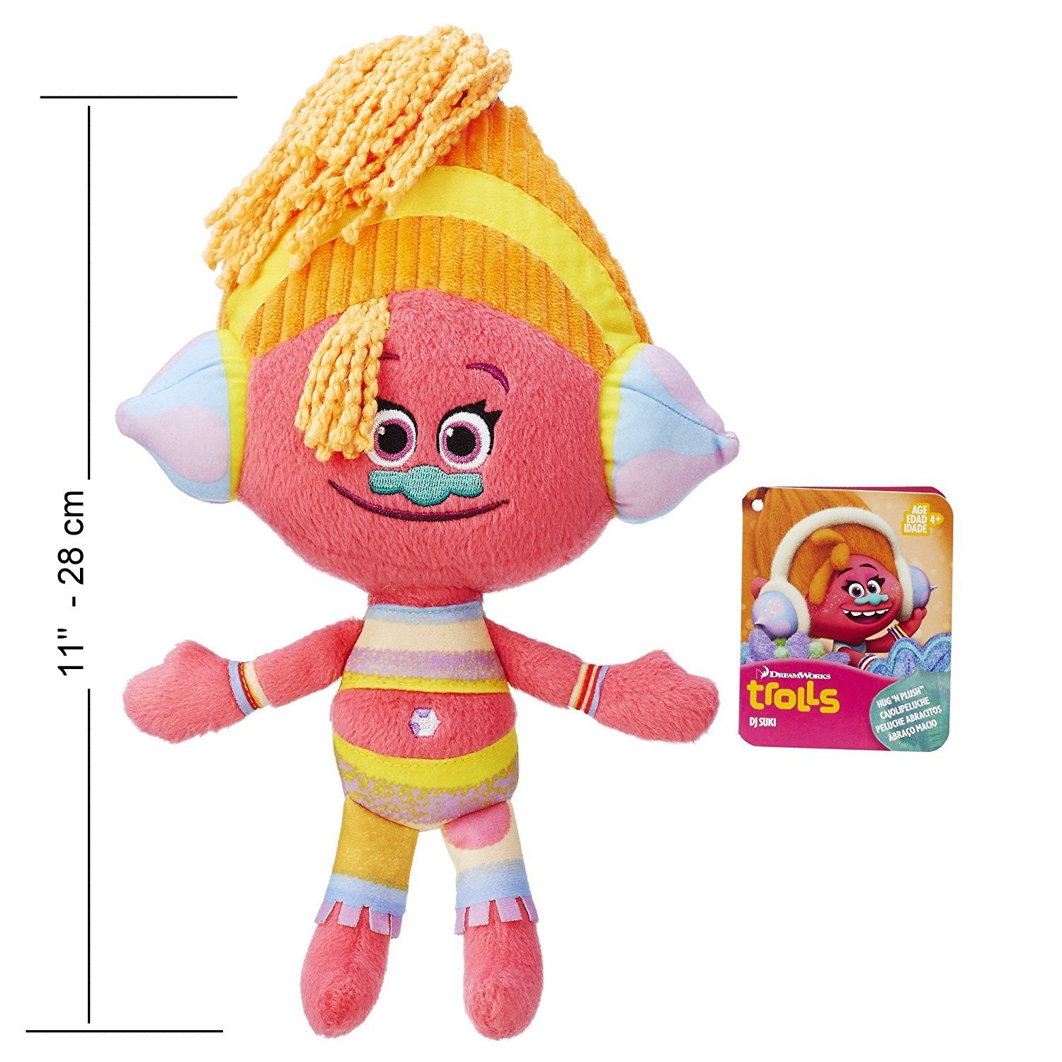 Amazon.com: Happy Trolls Poppy, Branch and DJ Suki Dreamworks Trolls Movie 8