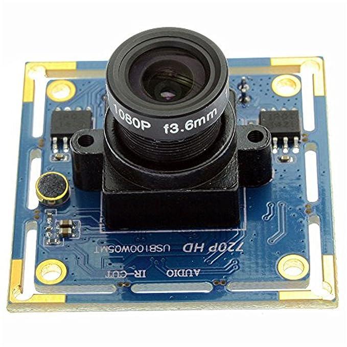 1 opinioni per ELP 1megapixel 3.6mm lenti UVC Usb2.0 modulo per telecamera Supporto Android di