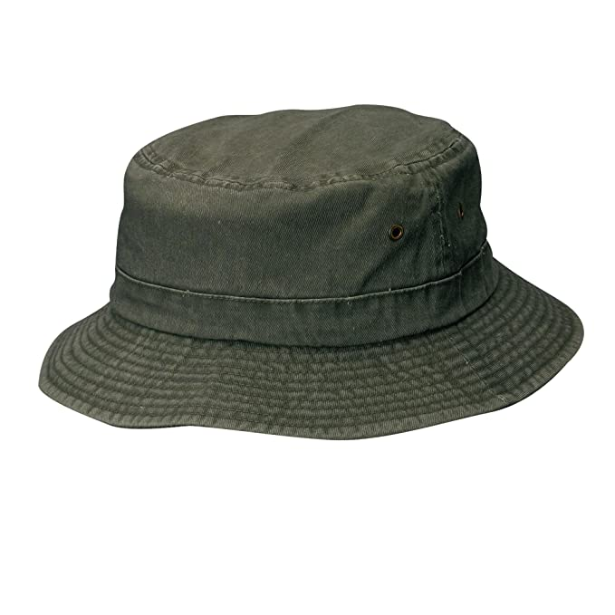d69af69c Dorfman Pacific Cotton Big and Tall Summer Bucket Hat 2XL 3XL, 3X, Stone  Green: Amazon.in: Clothing & Accessories