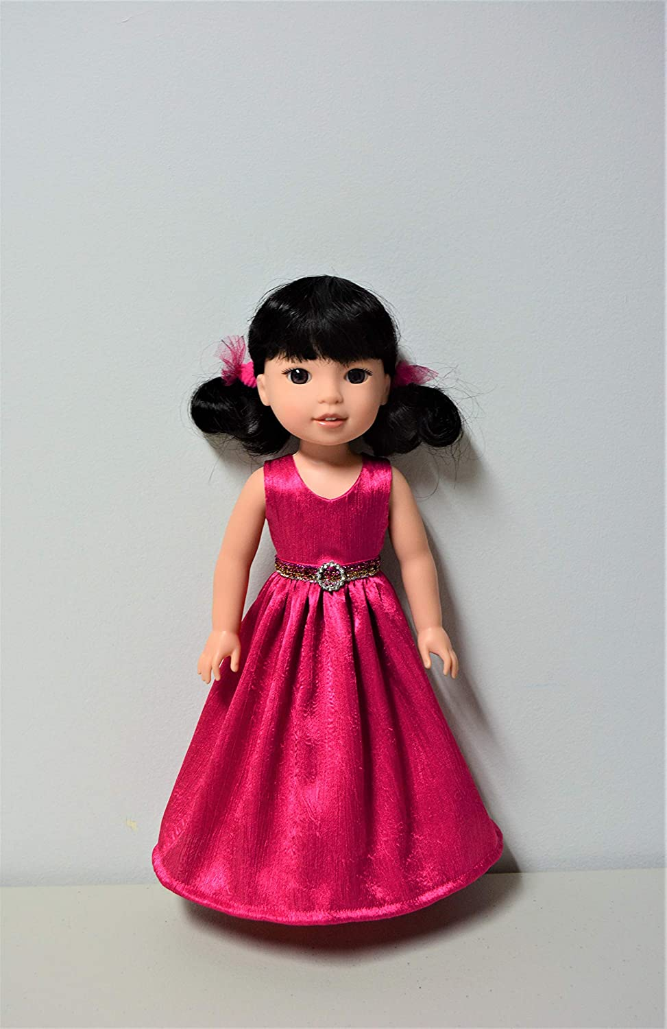 Handmade Doll Clothes Dress Gown fit 14.5 American Girl Wellie Wishers and H4H Dolls
