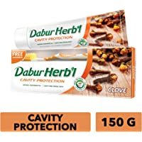 Dabur Herbal Clove Toothpaste, 150 gm + Brush