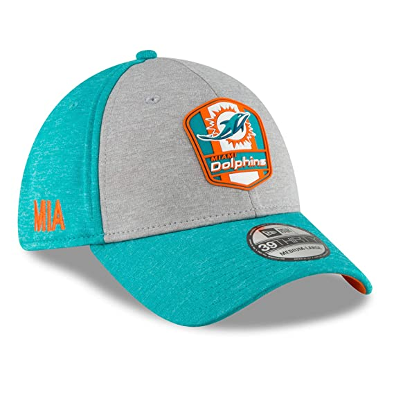 new styles 88a43 f99e4 ... release date amazon new era 39thirty cap sideline away miami dolphins  sports outdoors 095b9 65174
