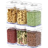 DWËLLZA KITCHEN Airtight Food Storage Containers with Lids Airtight – 6 Piece Set - Air Tight Kitchen Containers Pantry Organ