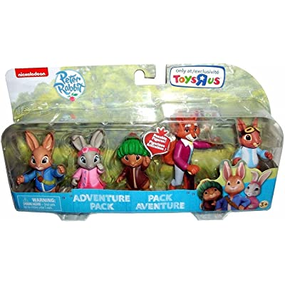 Nickelodeon Peter Rabbit Television Show Poseable Figures, Multi-Figure Adventure Set, 5-Pack, 3 Inches: Toys & Games