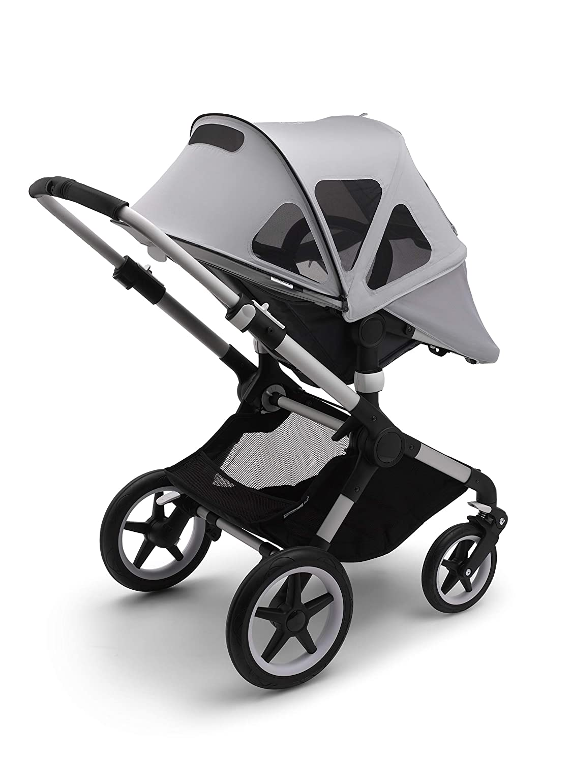 Extendable Sun Canopy with UPF Sun Protection and Peek-a-Boo Mesh Panel Bugaboo Fox2//Lynx Sun Canopy Also Compatible with Fox and Cameleon3 Black