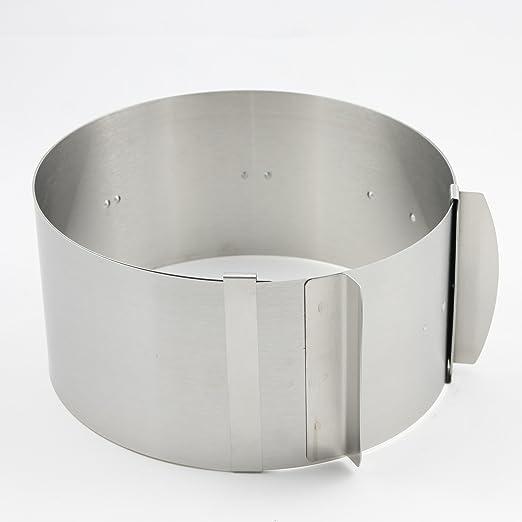 3 opinioni per Menz anello torta con scala, 8,5 cm di altezza, diametro regolabile da 16 a 30