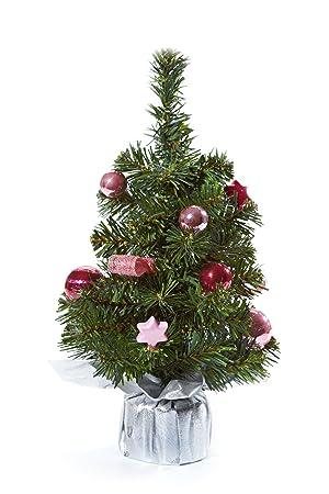 Schmuck Für Weihnachtsbaum.Heitmann Deco Dekorierter Weihnachtsbaum Kleiner Künstlicher Tannenbaum Inkl Schmuck Rosa Pink Silber Kunststoffbaum