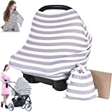 Carseat Canopy Cover - Baby Car Seat Canopy KeaBabies - All-in-1 Nursing Breastfeeding Covers Up - Baby Car Seat…