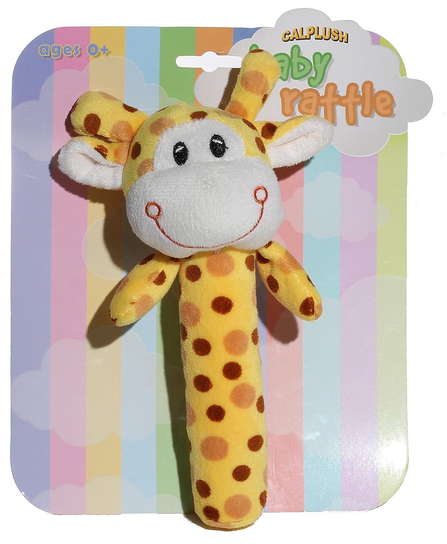 Calplush Baby Rattles Giraffe Plush Animal Toy NIXEU 9959-7