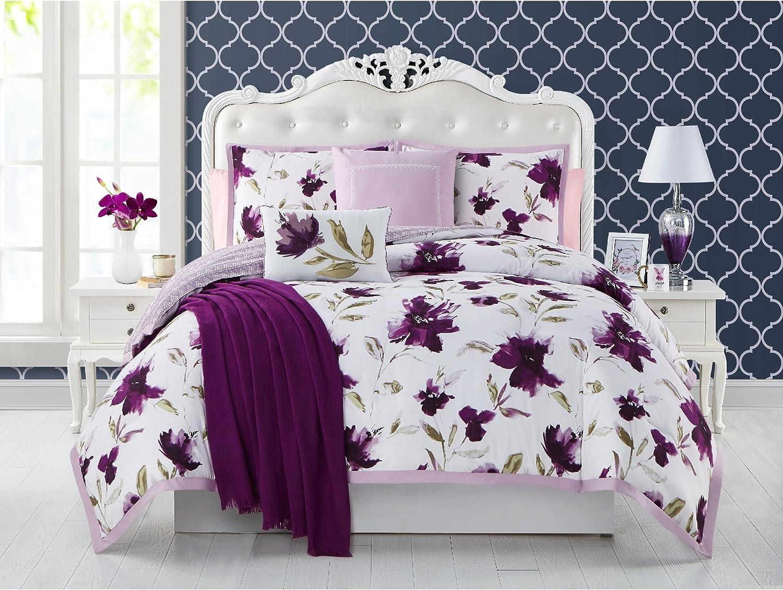 Botanical Purple Full Comforter