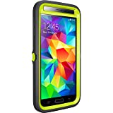 Otterbox Defender Series for Samsung Galaxy S5 - Retail Packaging - Citron Kick (Citron Green/Slate Grey )