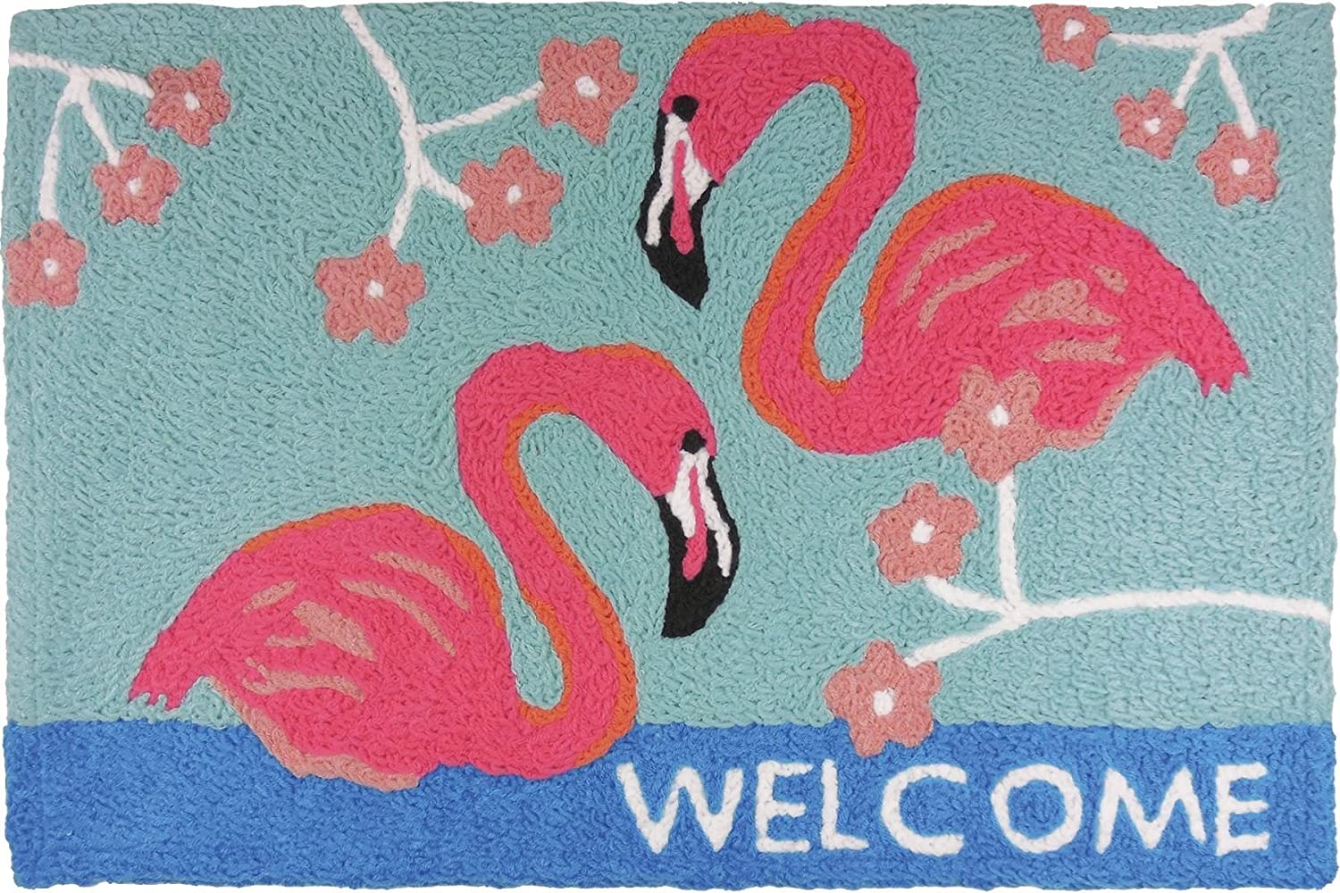Home Comfort, Inc Jellybean Flamingo Welcome Rug
