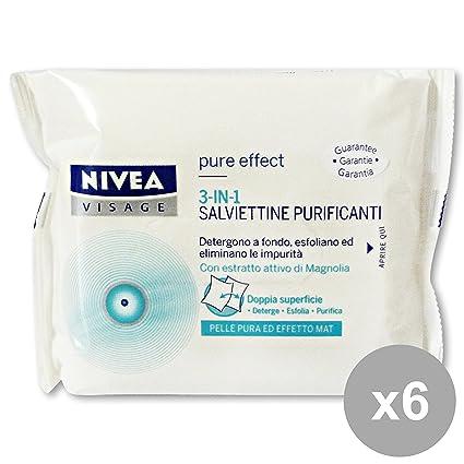 NIVEA Set 6 Desmaquillante Toallitas Anti Purificar X 20 Piezas 81346 Jabones Y Cosméticos