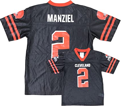 904702aa540 ... uk outerstuff johnny manziel cleveland browns brown youth player home  jersey xs 4 5 40a24 430ec