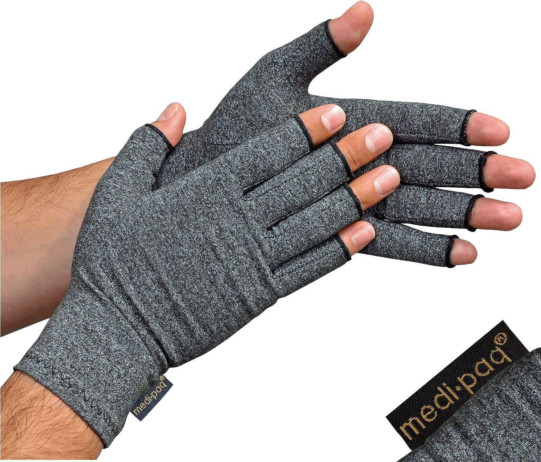Guantes Anti-Artritis Medipaq® (Par) – Ofrecen Calor Y Compresión Para Ayudar A Aumentar La Circulación Reduciendo El Dolor Y Promover La Sanación (1 Par (Pequeño))