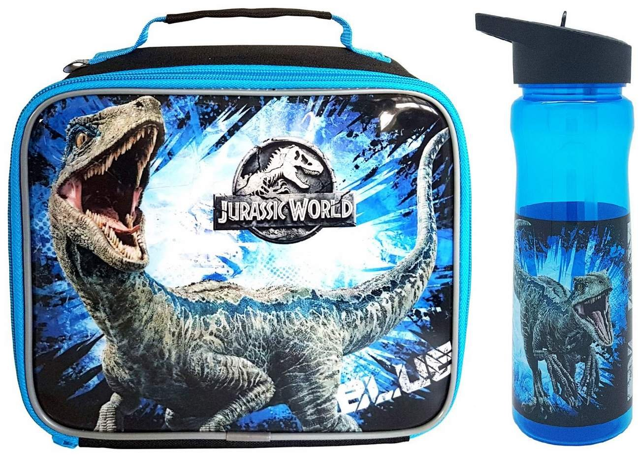 Jurassic World Fallen Kingdom 'Blue' Lunch Bag and Flip 'n' Flow Bottle (590ml) DNC Polar Gear