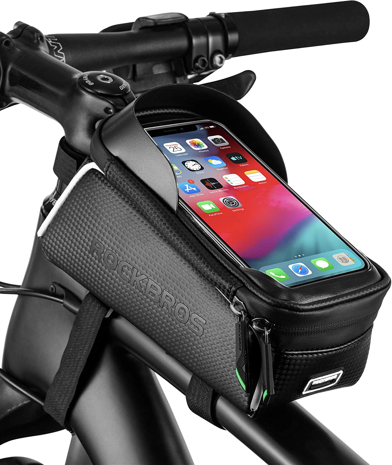 MTB Cycling Bike Front Top Tube Frame Bag Bicycle Waterproof Phone Holder Case