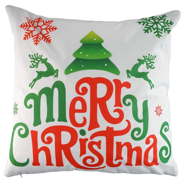 Fundas de Almohada para Decoraci/ón de Hogar Cojines No Incluidos Adorno para Fiesta de Navidad Kompanion Set de 4 Fundas Navide/ñas para Cojines Accesorio Decorativo de Temporada Festiva