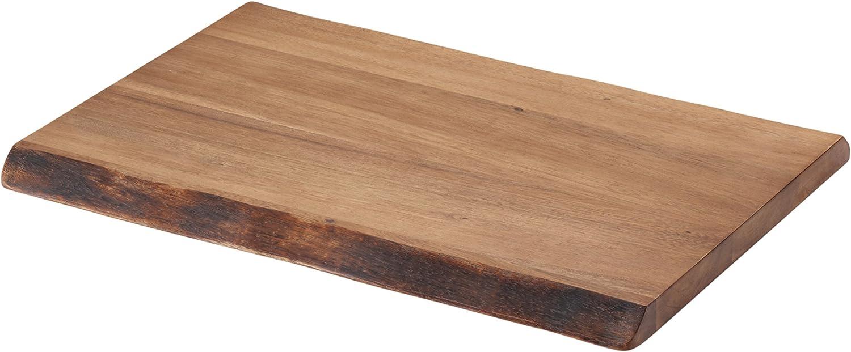 Rachael Ray 50797 Pantryware Wood Cutting Board / Wood Serving Board - 17 Inch x 12 Inch, Brown