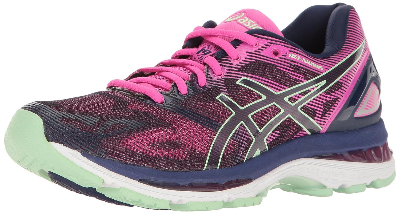 ASICS Women's Gel-Nimbus 19 Running Shoe B01GST33J6 6.5 B(M) US|Indigo Blue/Paradise Green/Pink Glow