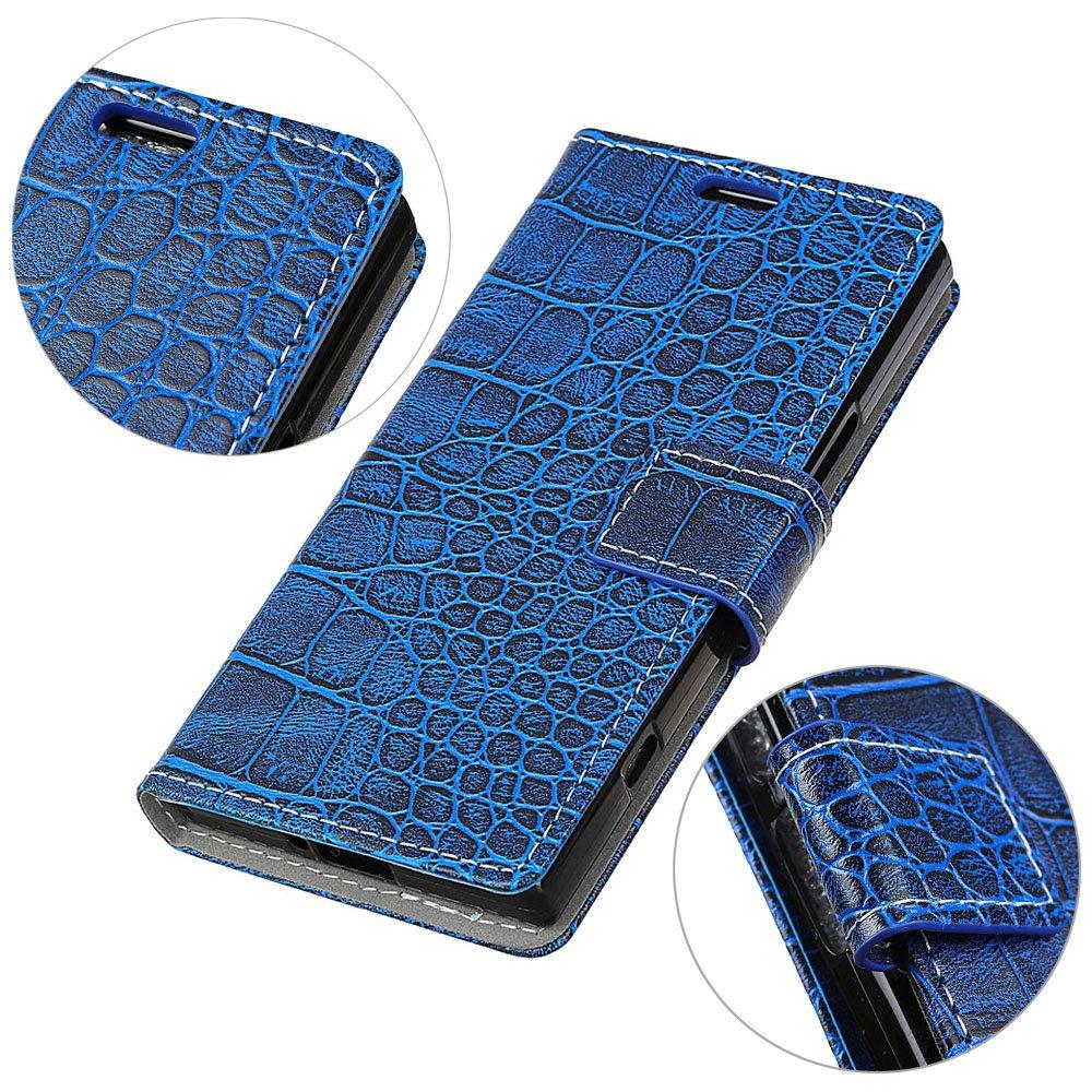 TOUCASA Coque J7 Prime,Housse J7 Prime, Coque Cuir PU Portefeuille à Aimant Crocodile Skin Leather Pattern Étui pour Samsung J7 Prime-Coque Blanc ba2018910san10024