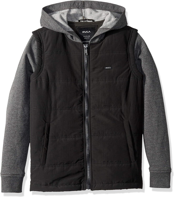 RVCA Boys' Big Logan Puffer Hooded Jacket