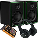 "Mackie CR4XBT 4"" Multimedia Monitors (Pair) + Bluetooth Headphone and Extra Bundle 914+M"