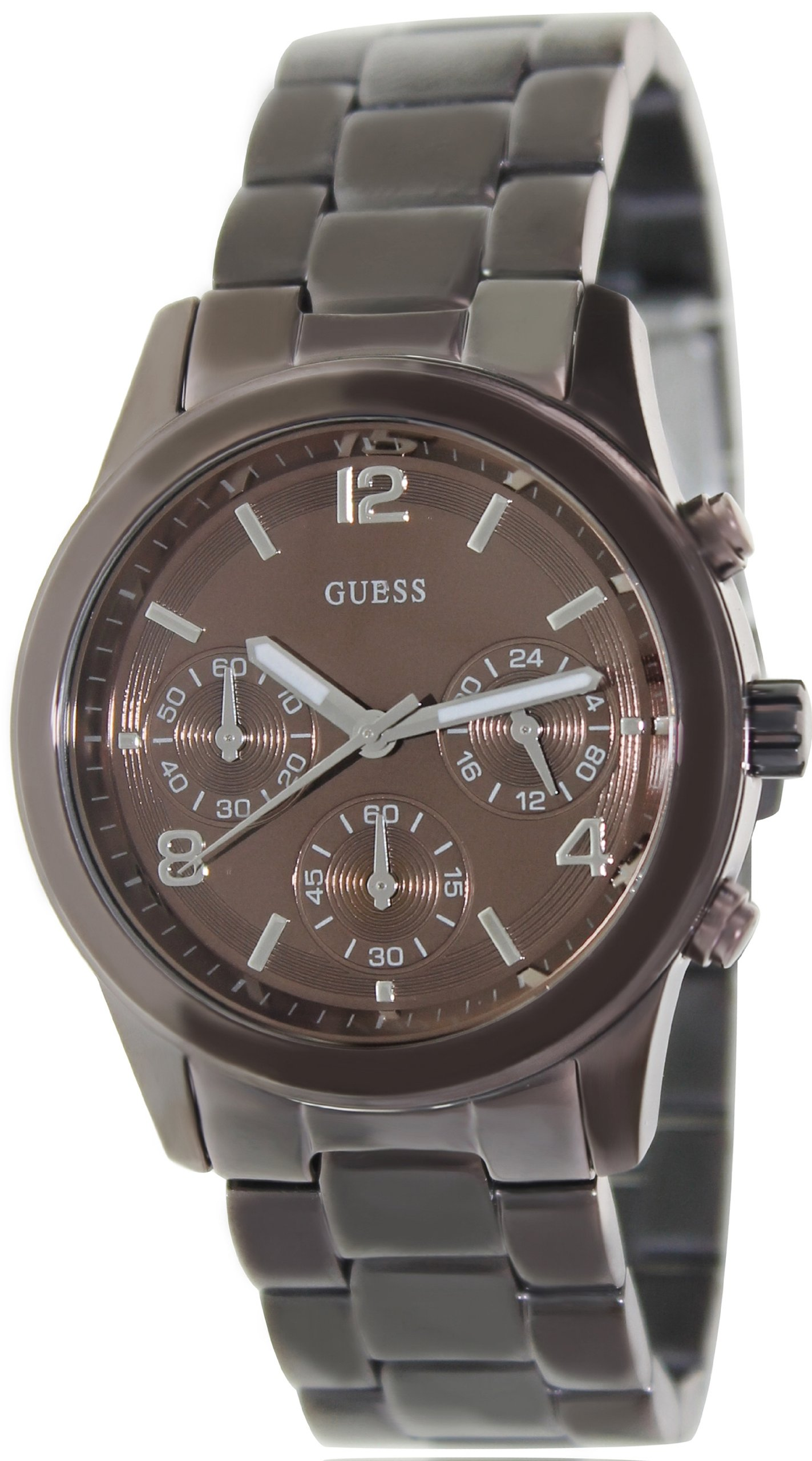 GUESS Women's U14506L1  Chronograph Bronze Tone Stainless Steel Watch