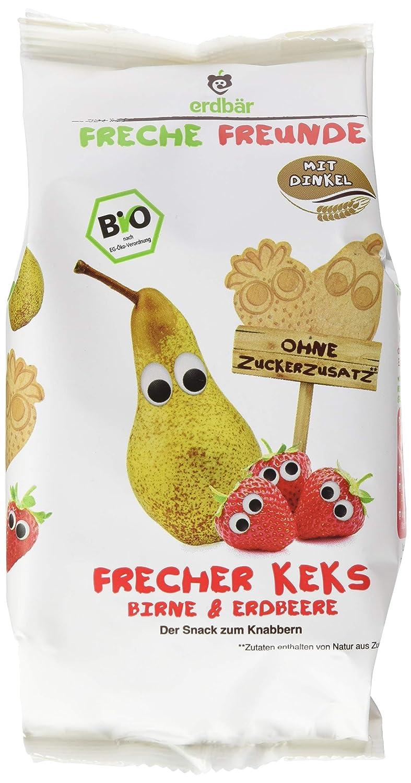 Freche Freunde Bio Kinder Keks 'Apfel & Banane', ohne Zuckerzusatz, mit Dinkel, Snack fü r Kinder & Babys ab 1 Jahr, 7er Pack (7 x 125 g) erdbär GmbH 3425