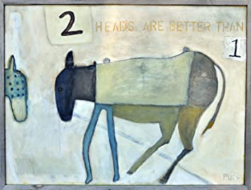 sugarboo designs art print ap125 two heads are better than one 36inch by