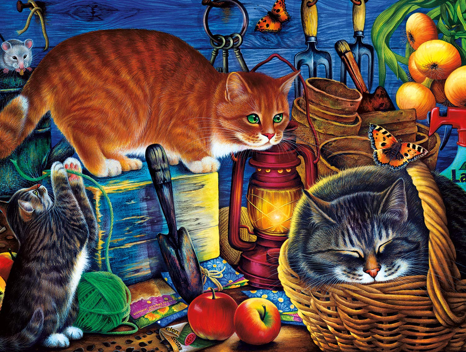 Buffalo Games - Cats Collection - Potting Shed Cats - 750 Piece Jigsaw Puzzle