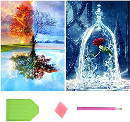 Paint with Round Diamonds by Numbers Exquisite Doll Stitch Diamond Art for Home Wall Decor Gift(12x16inch) DIY 5D Full Drill Diamond Painting Kits