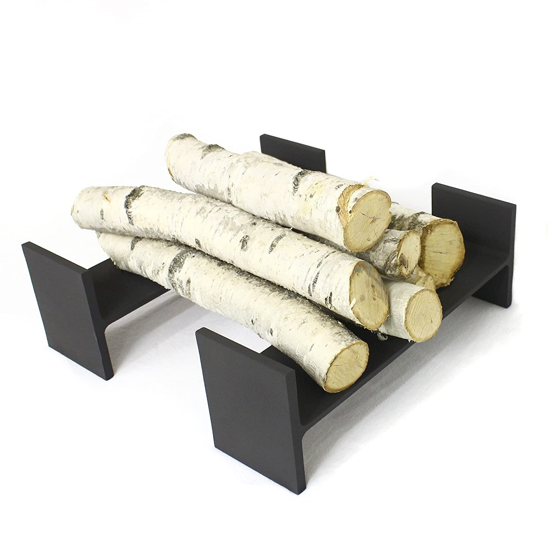 amazon com reclaimed steel i beam fireplace andiron set modern