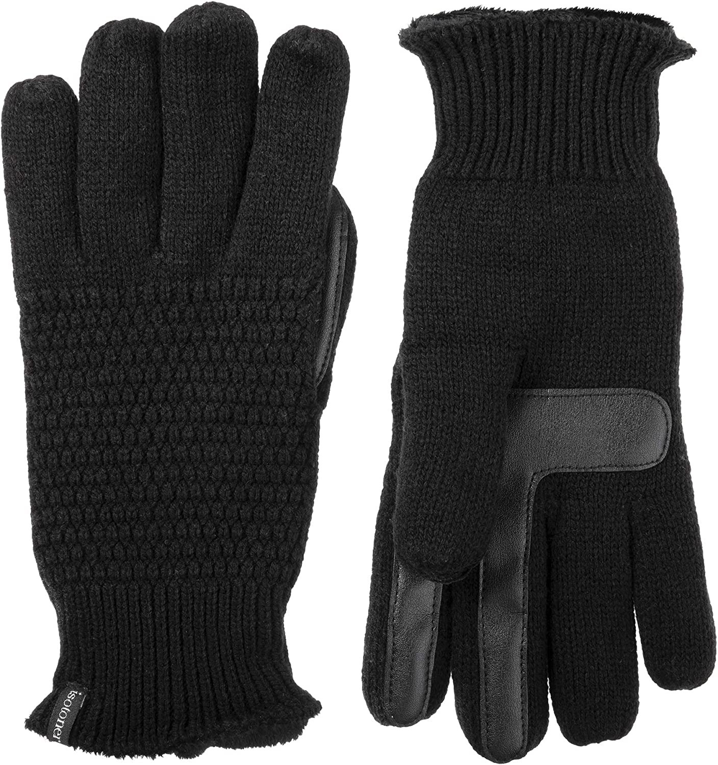 Isotoner Women's Winter Stretch Gloves Driving Warm Fleece Lining Black Gift N