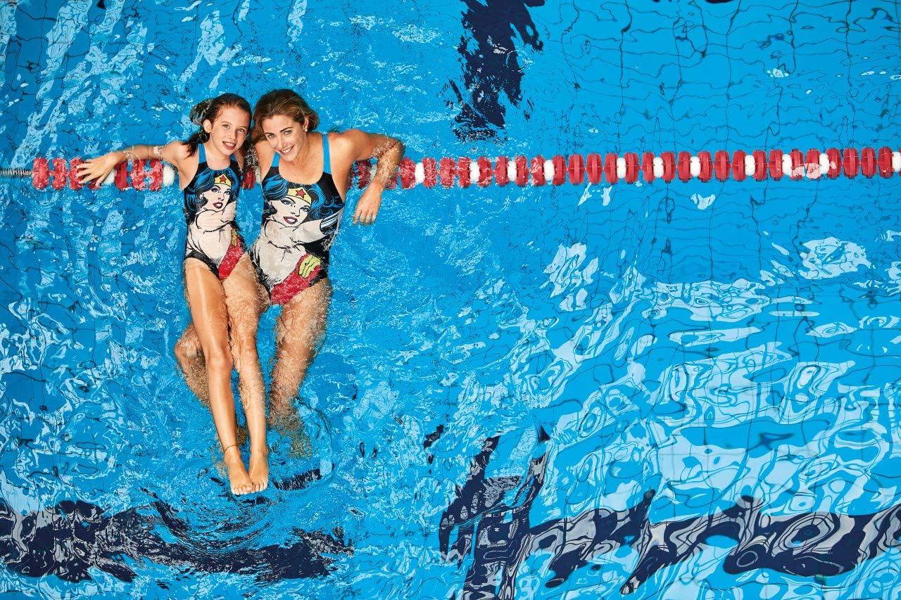 W Wonder Face Swim PRO Back One Piece ARENA Costume a Slip da Bambino Donna
