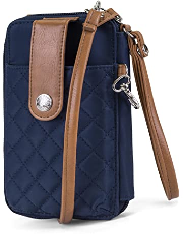 0245881ab128 MUNDI Jacqui Vegan Leather RFID Womens Crossbody Cell Phone Purse Holder  Wallet
